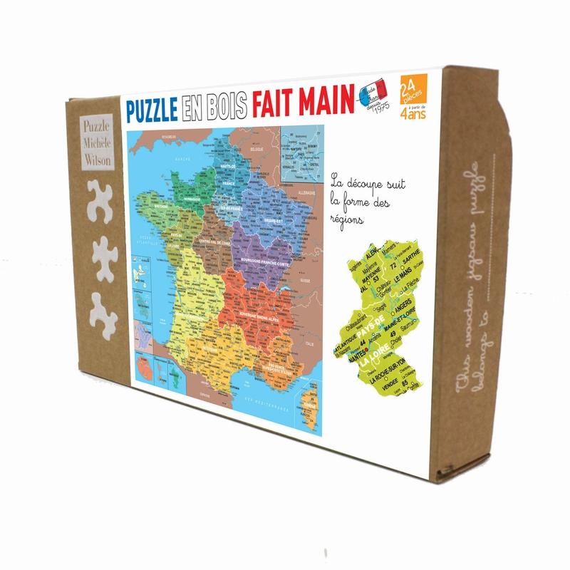 Michèle Wilson - Puzzle carte de France des régions