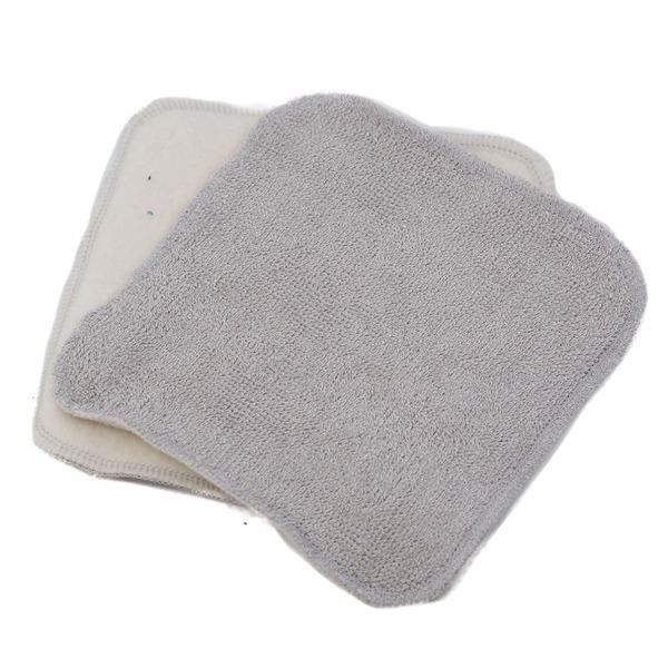 Ozero - Lingette lavable bambou/coton bio Ozéro - Gris clair