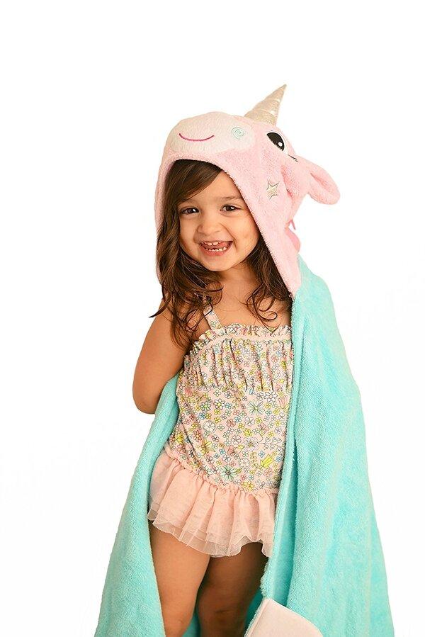 Zoocchini - Serviette de bain enfant - Allie la licorne