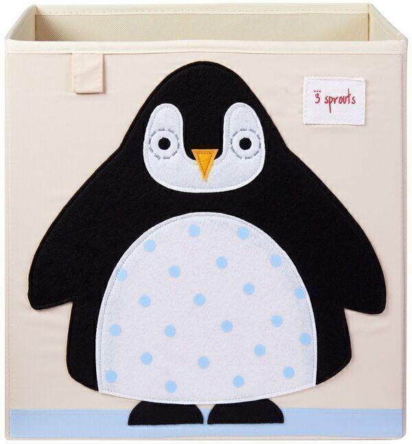 3 Sprouts - Cube de rangement Pingouin