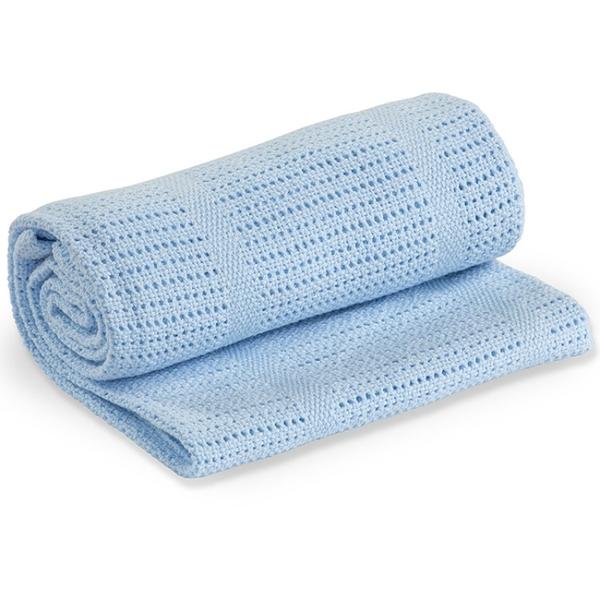 Lulujo - Couverture tricot de coton - Bleu