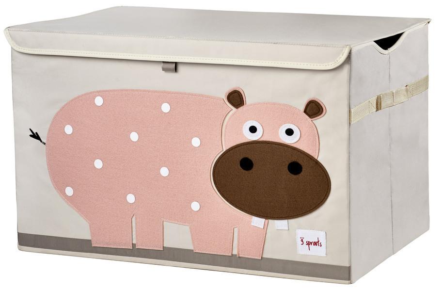 3 Sprouts - Coffre à jouets Hippo