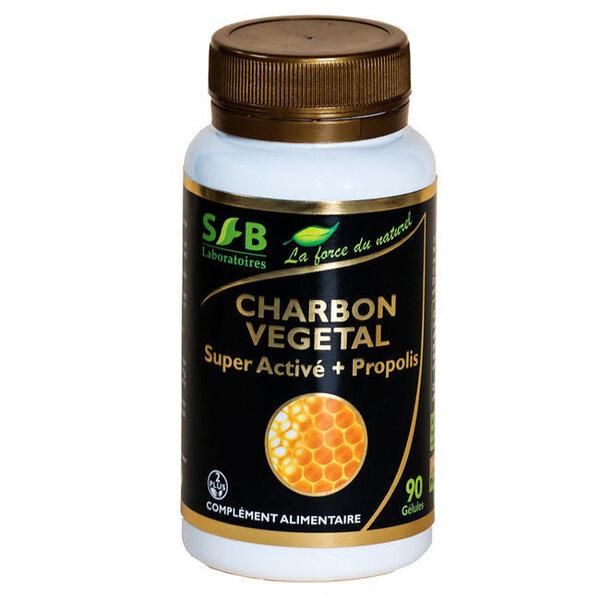 Laboratoires SFB - Charbon végétal Super activé et Propolis verte 240mg 90 gélules