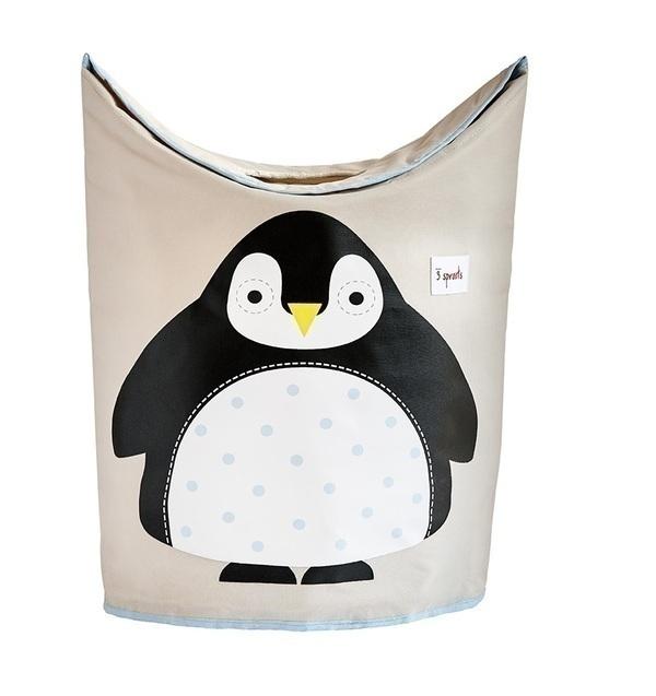 3 Sprouts - Panier à linge Pingouin