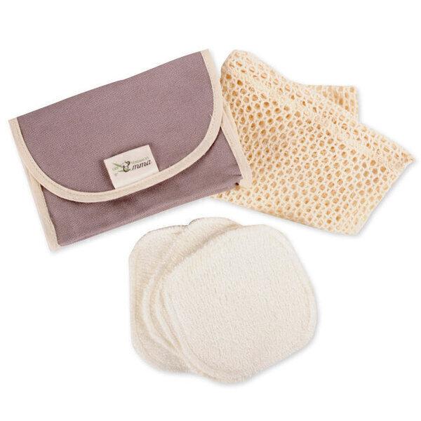 Les Tendances d'Emma - Kit Eco Belle Nomade Coton bio - Coton démaquillant lavable