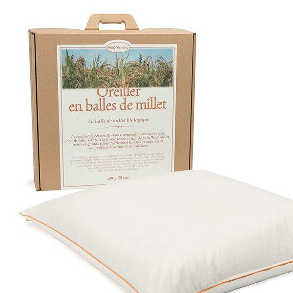 Mille oreillers - Oreiller en balles de Millet - 60 x 60 cm