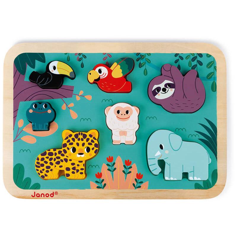 Janod - Chunky puzzle jungle janod