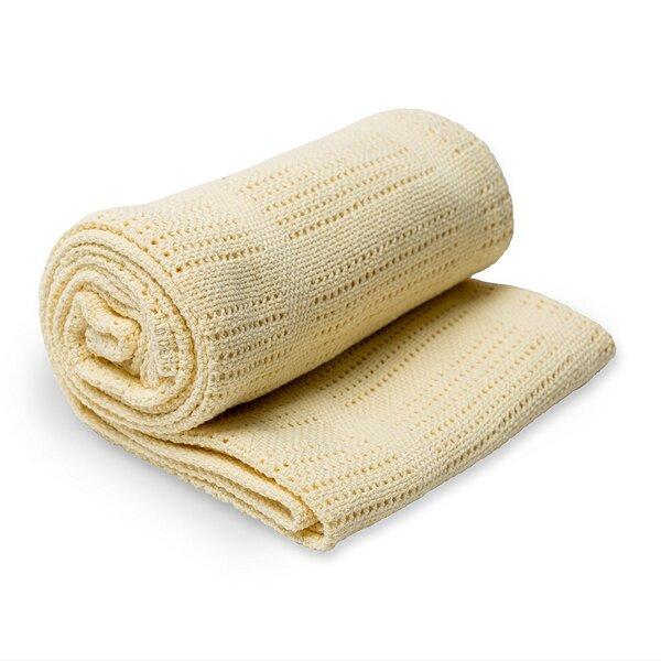 Lulujo - Couverture tricot de coton - Jaune