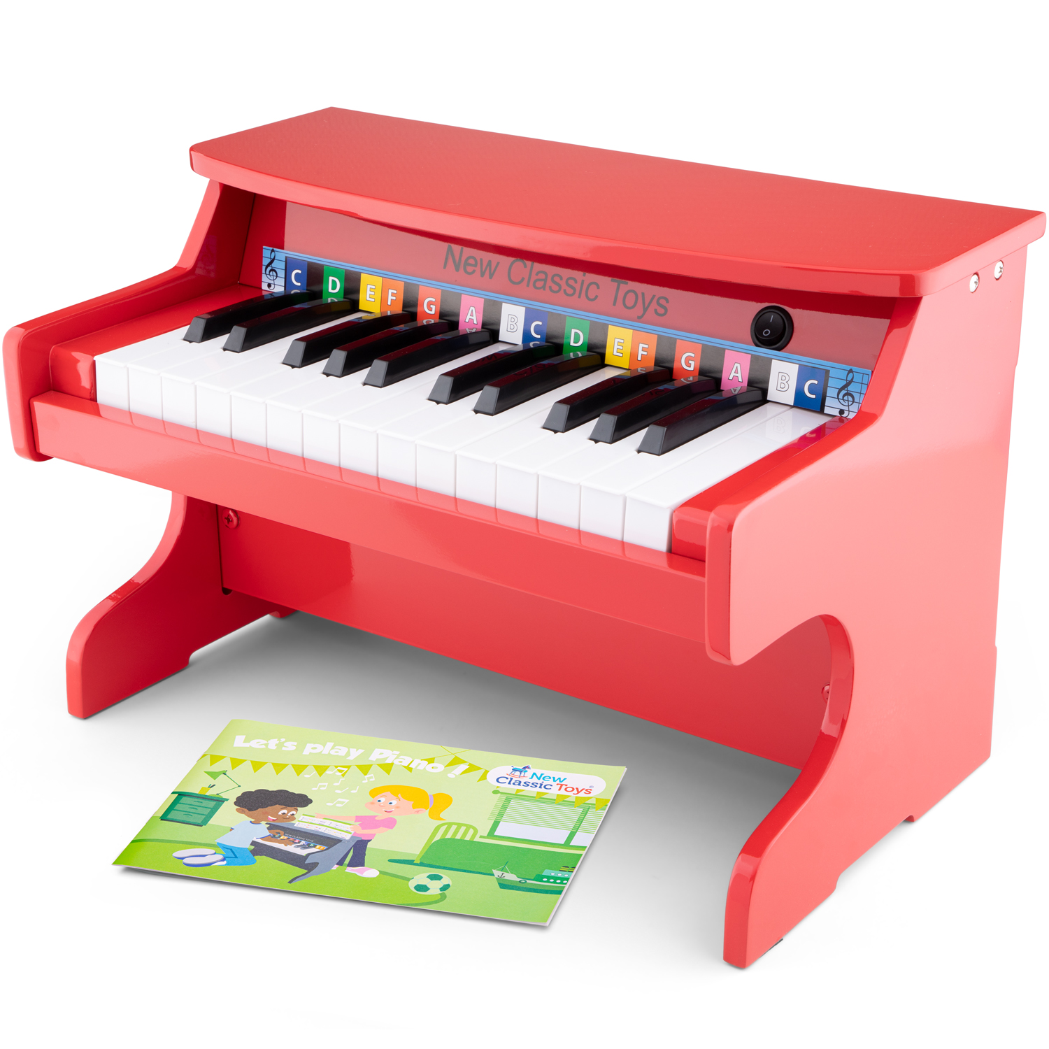 New Classic Toys - Piano Electronique rouge - 25 touches