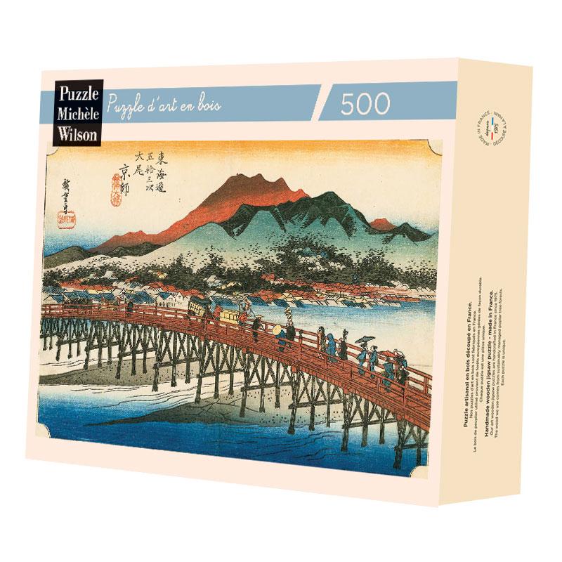 Michèle Wilson - Le pont Sanjo de Hiroshige