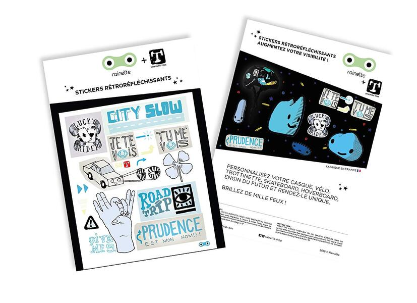 Rainette - Stickers City Slow Bleu