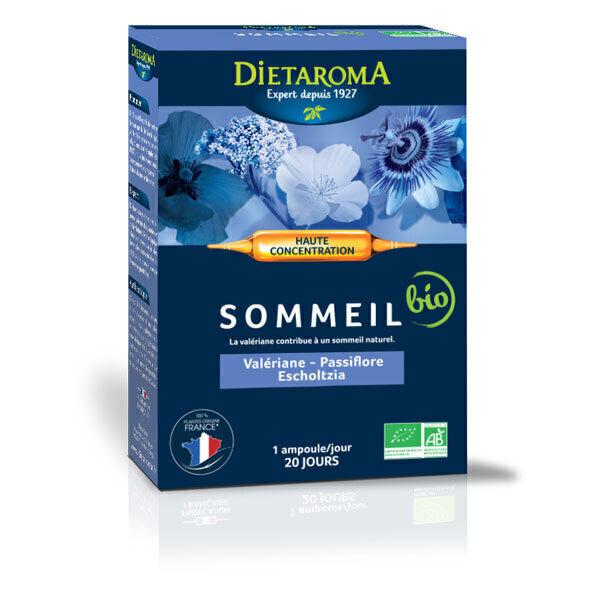Dietaroma - CIP Sommeil bio - Passiflore, Valériane, Coquelicot 20 ampoules