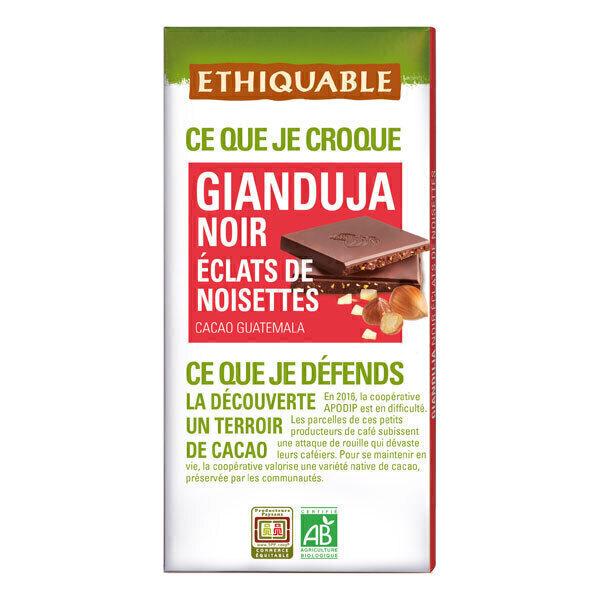 Ethiquable - Chocolat noir gianduja éclats de noisettes Guatemala 100g