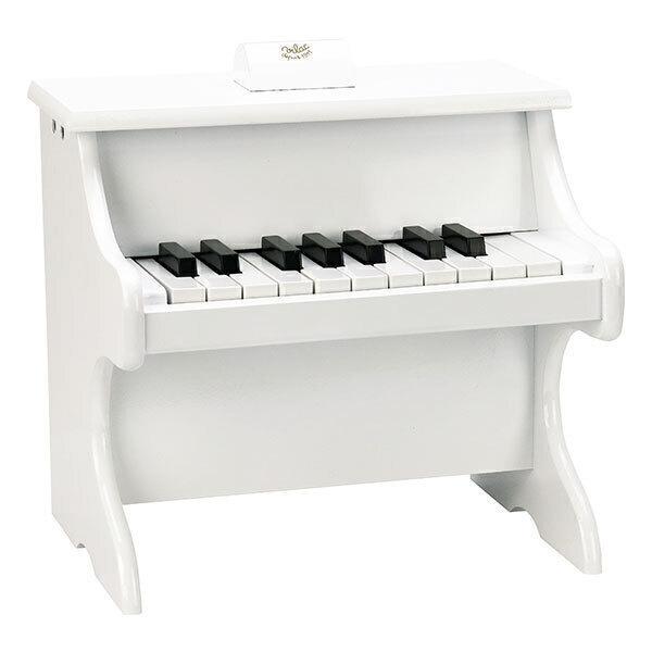 Vilac - Piano Blanc 18 touches avec partitions - Dès 3 ans