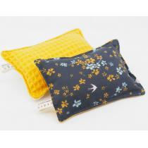 Ozero - Eponge lavable réutilisable Ozéro - Fleurs- jaune