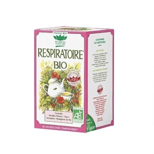 Romon Nature - Tisane Respiratoire bio - 20 sachets