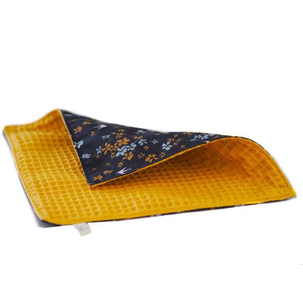Ozero - Essuie-tout lavable Ozéro - coton imprimé-fleurs-jaune