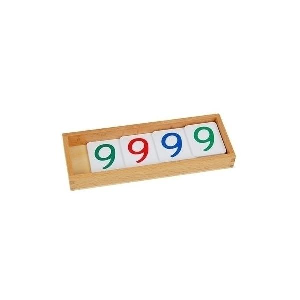 MontessoriSamuserAutrement - Grandes cartes des nombres en PVC ( plastique )