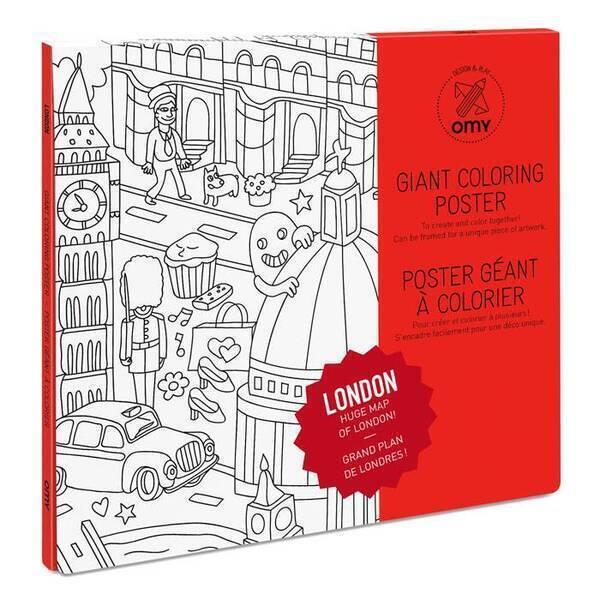 OMY - Poster à colorier - Londres