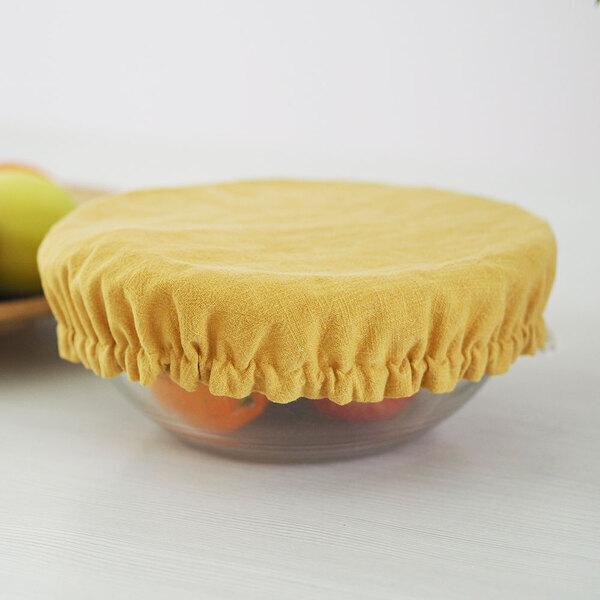 Ozero - Grand recouvre plat réutilisable Ozéro Moutarde