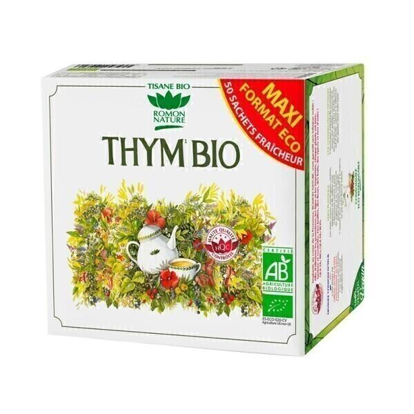 Romon Nature - Tisane Thym bio - 50 sachets