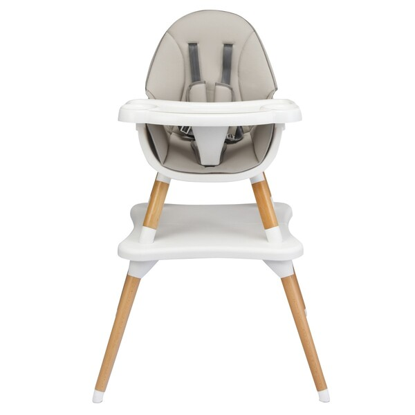 Costway - Chaise haute pour bébé 4 en 1 grise