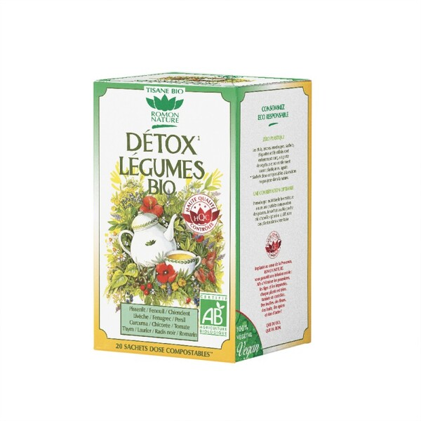 Romon Nature - Tisane Détox légumes bio - 20 sachets