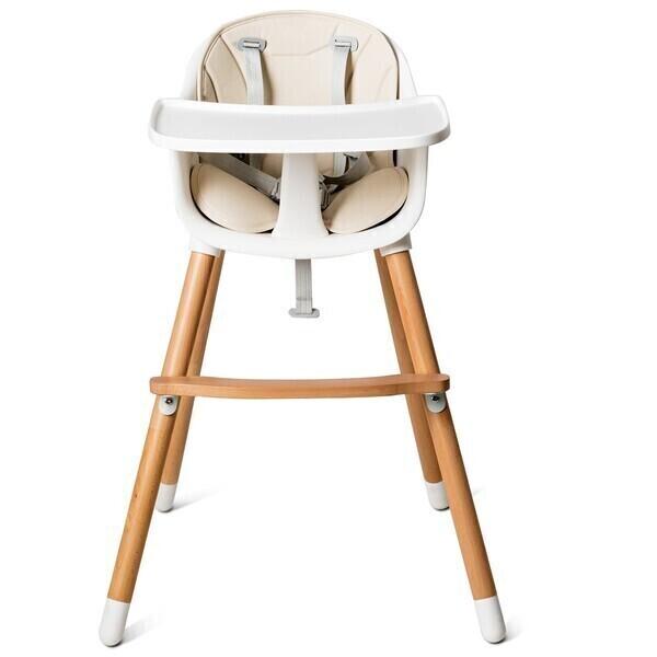 Costway - Chaise haute pour bébé convertible 2 en 1