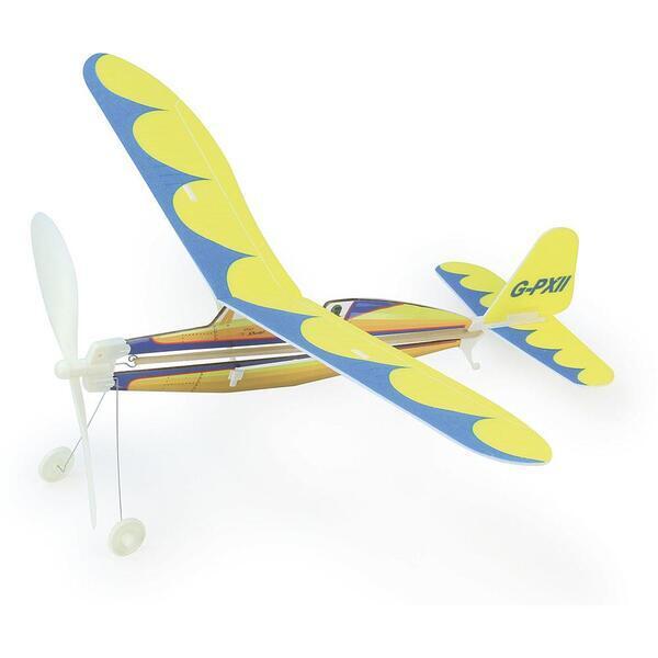 Vilac - Avion à élastique jaune