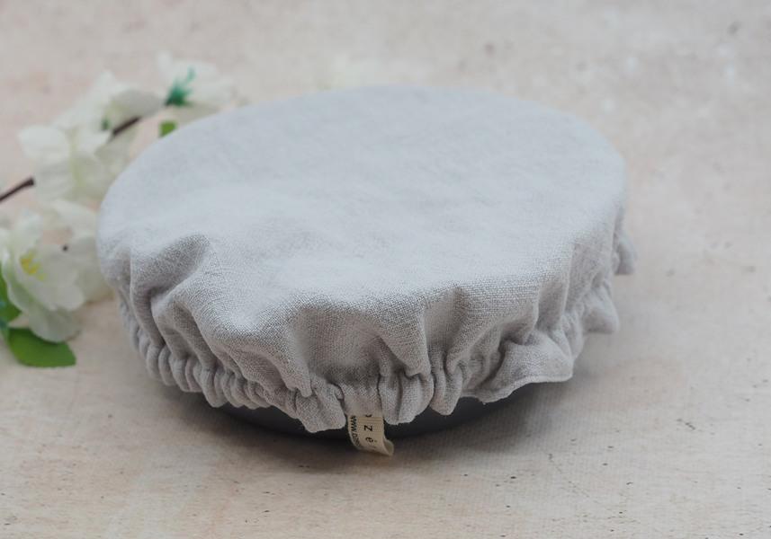 Ozero - Grand recouvre plat réutilisable Ozéro Gris clair