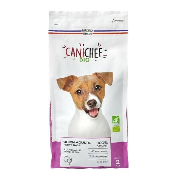 Canichef - Croquettes chien petite race 2kg bio
