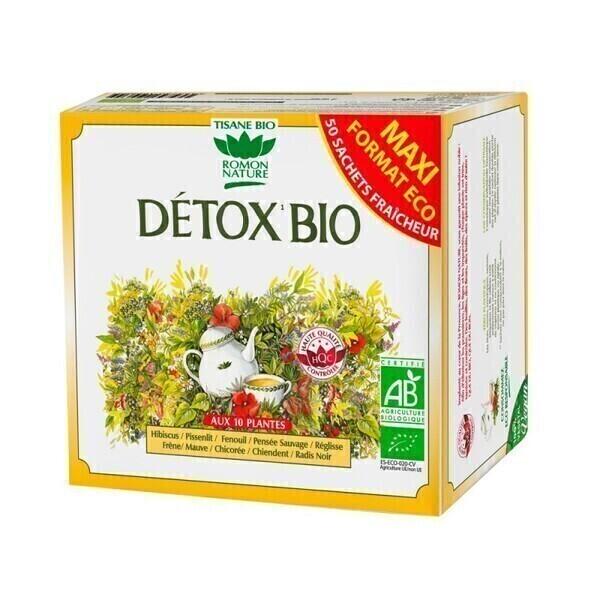 Romon Nature - Tisane Détox nature bio - 50 sachets