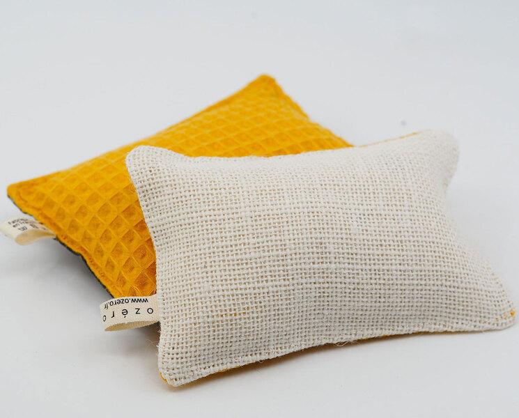 Ozero - Eponge lavable réutilisable Ozéro - Nid d'abeille Moutarde