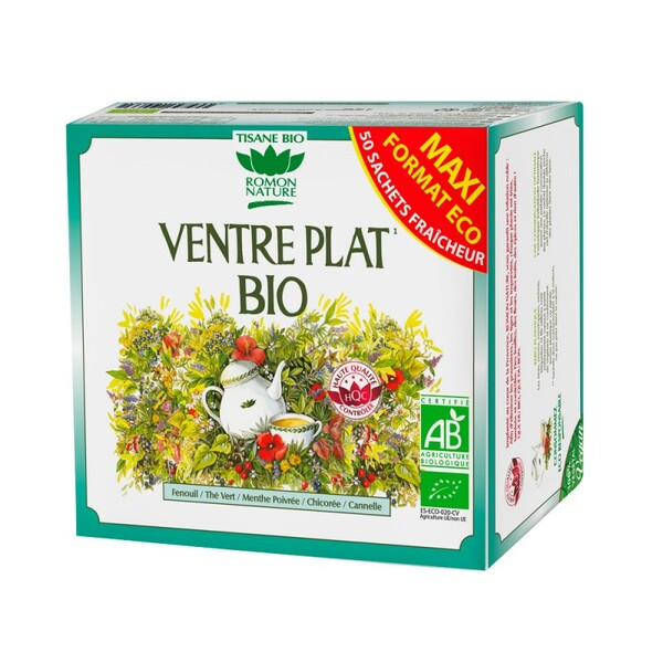 Romon Nature - Tisane Ventre plat bio - 50 sachets