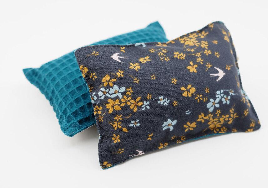 Ozero - Eponge lavable réutilisable Ozéro - Imprimé fleurs-bleu