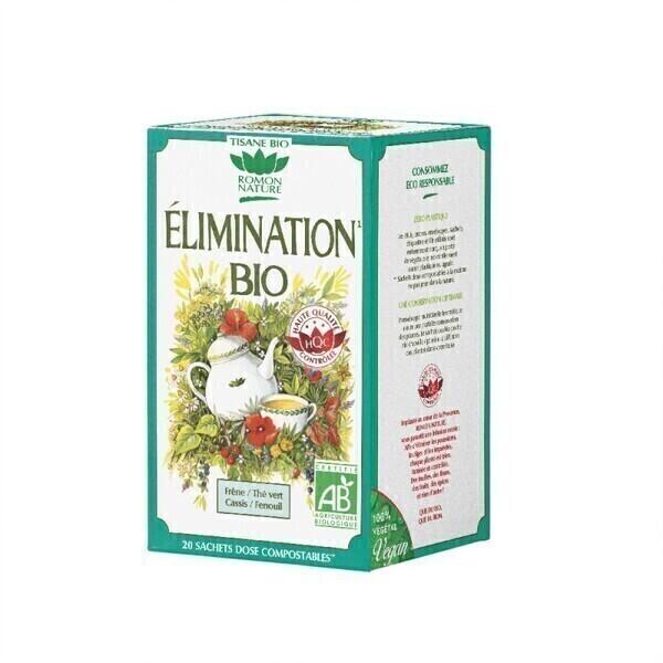 Romon Nature - Tisane Elimination bio - 20 sachets