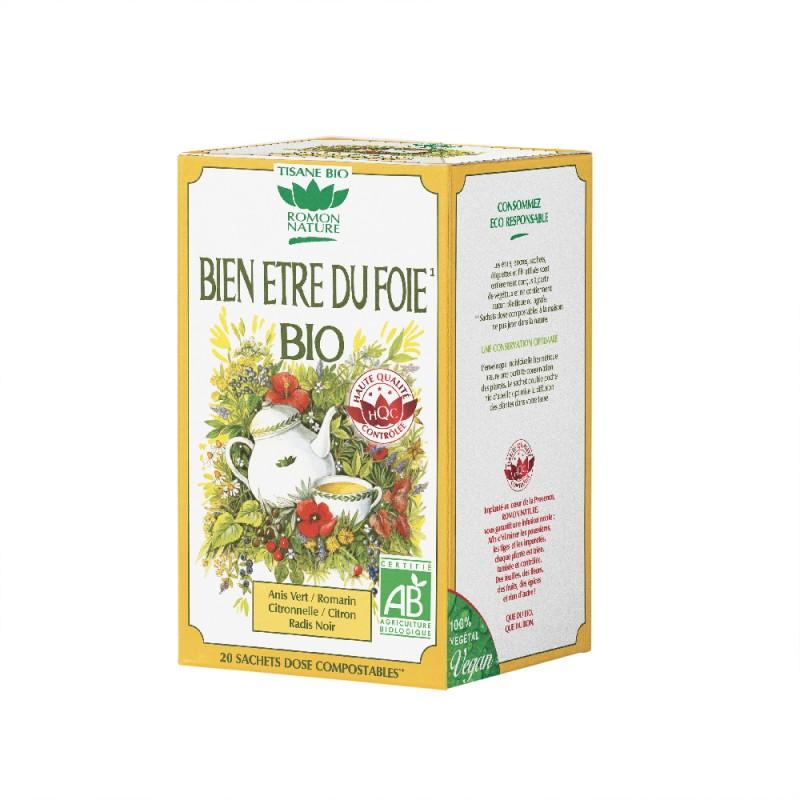 Romon Nature - Tisane Bien être du foie bio - 20 sachets