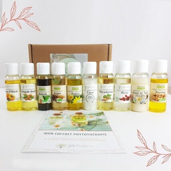 Joli'Essence - 10 huiles végétales indispensables - Coffret Phytothérapie