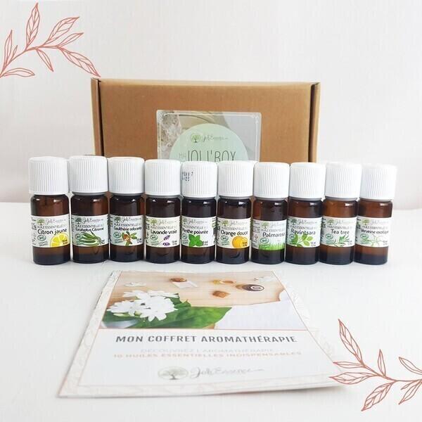 Joli'Essence - 10 huiles essentielles indispensables - Coffret Aromathérapie