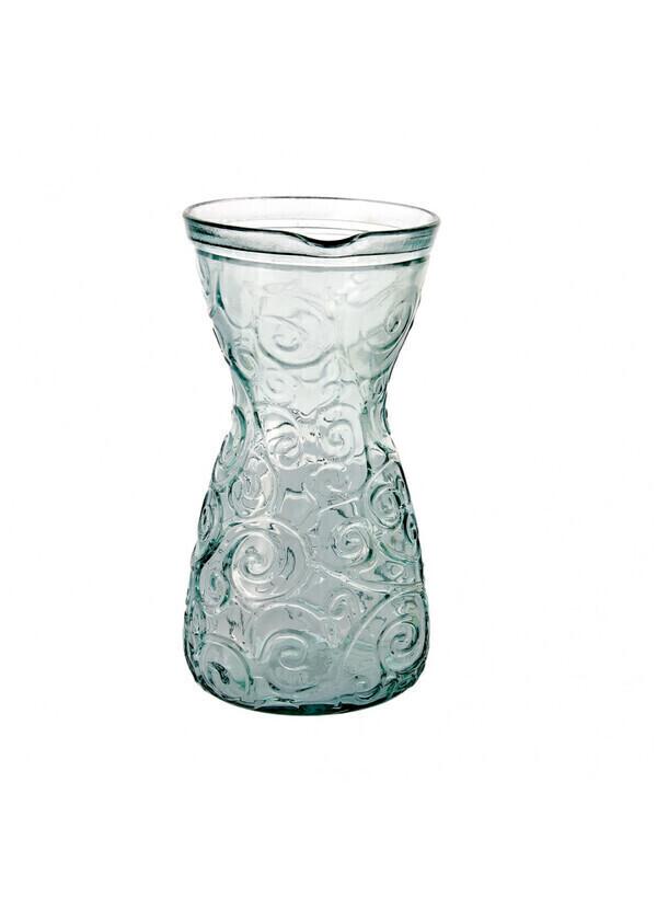 Créations Léonie's France - Carafe verre recyclé volutes 1L