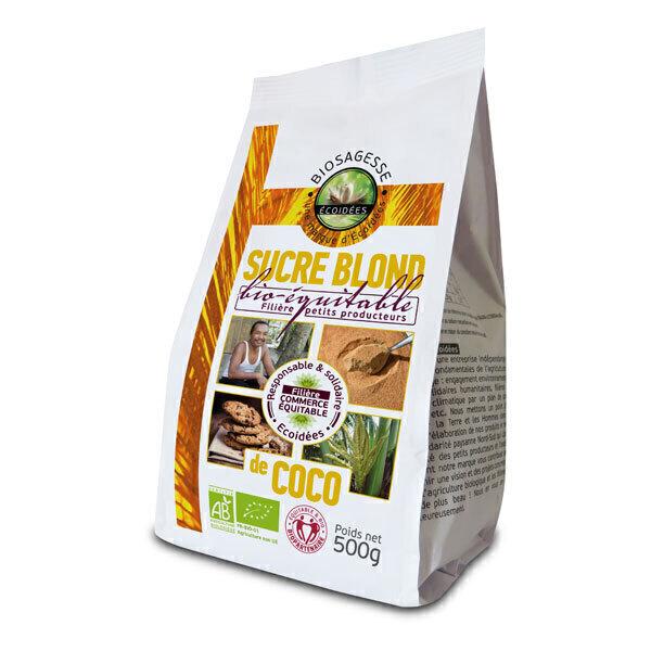 Ecoidées - Sucre de coco blond 500g