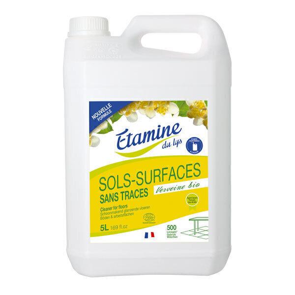 Etamine du Lys - Nettoyant sols et surfaces sans trace Verveine 5L
