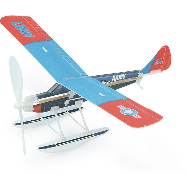 Vilac - Avion à élastique bleu