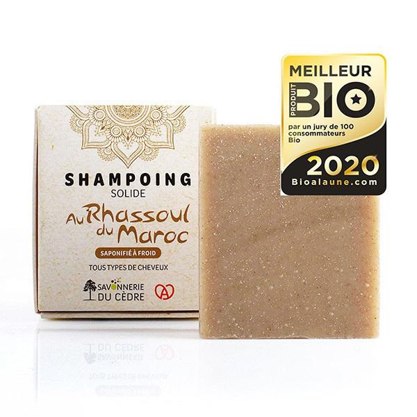 La Savonnerie du Cèdre - Shampoing solide Rhassoul tous types de cheveux 100g