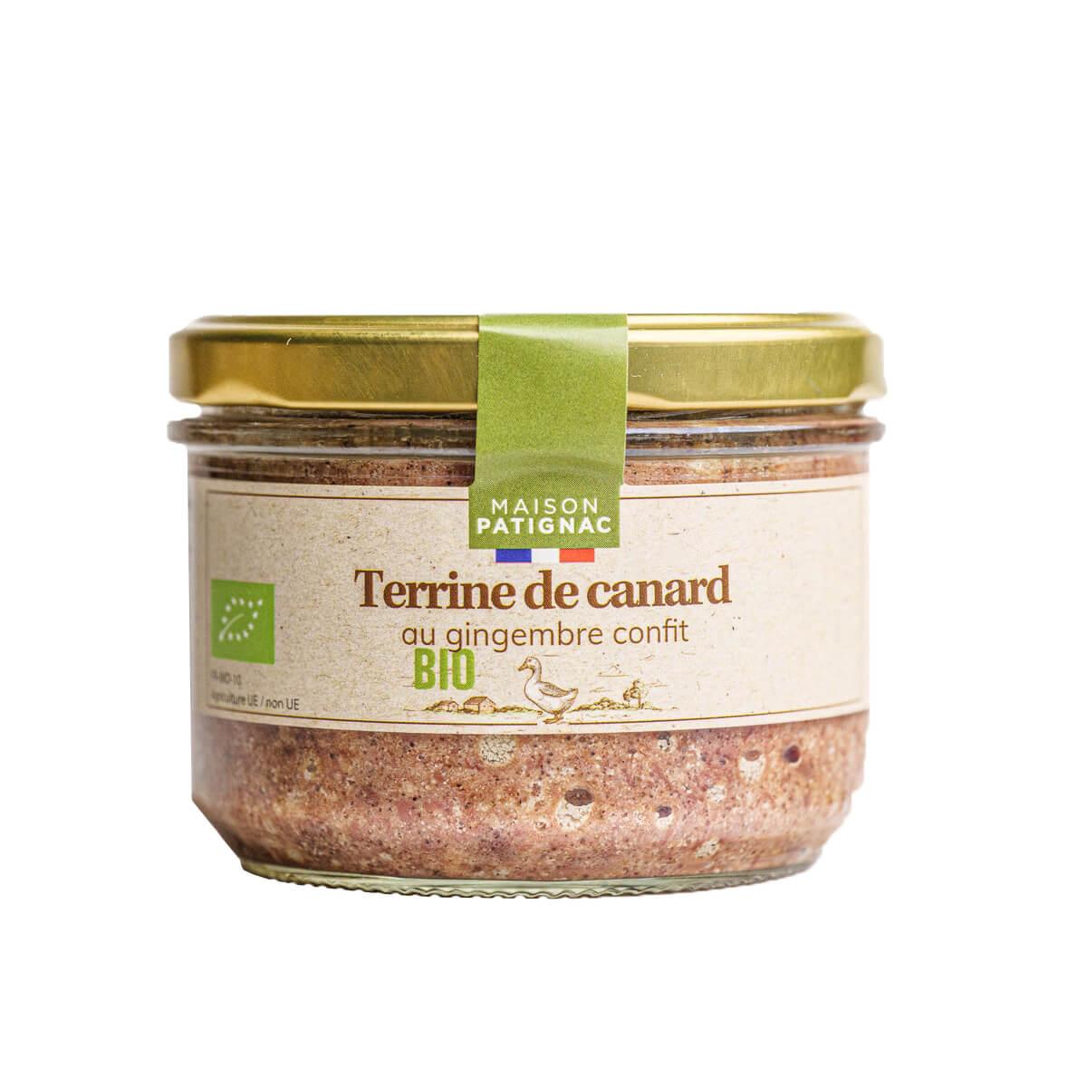 Maison Patignac - Terrine de canard au gingembre confit 180g
