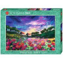 Heye - Puzzle 1000p Felted Art Sundown Poppies Heye