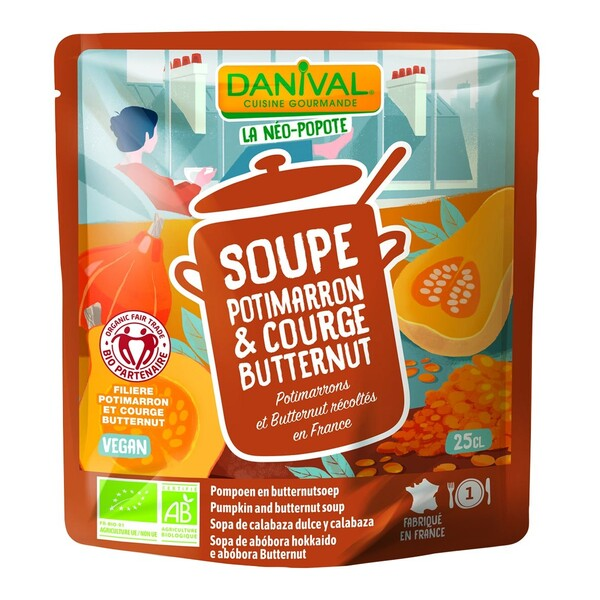 Danival - Soupe au potimarron-courge butternut 25cl bio