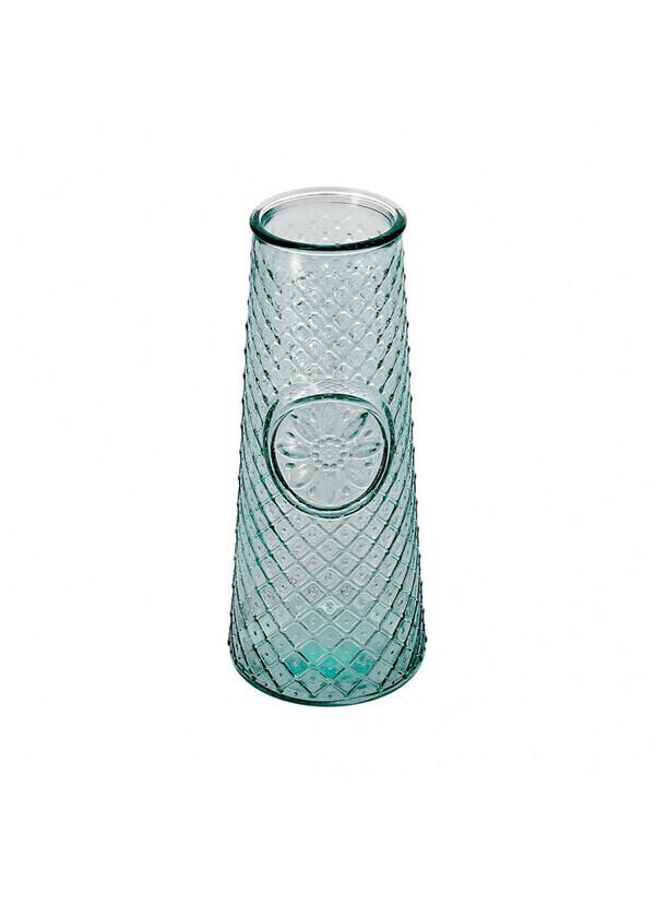Créations Léonie's France - Vase verre recyclé rétro picots 16,5cm