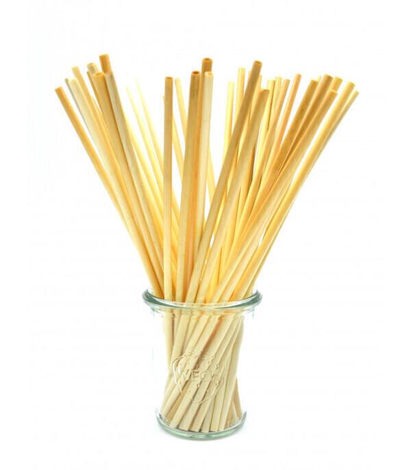 Les pailles.com - 50 pailles en blé naturel biodégradables