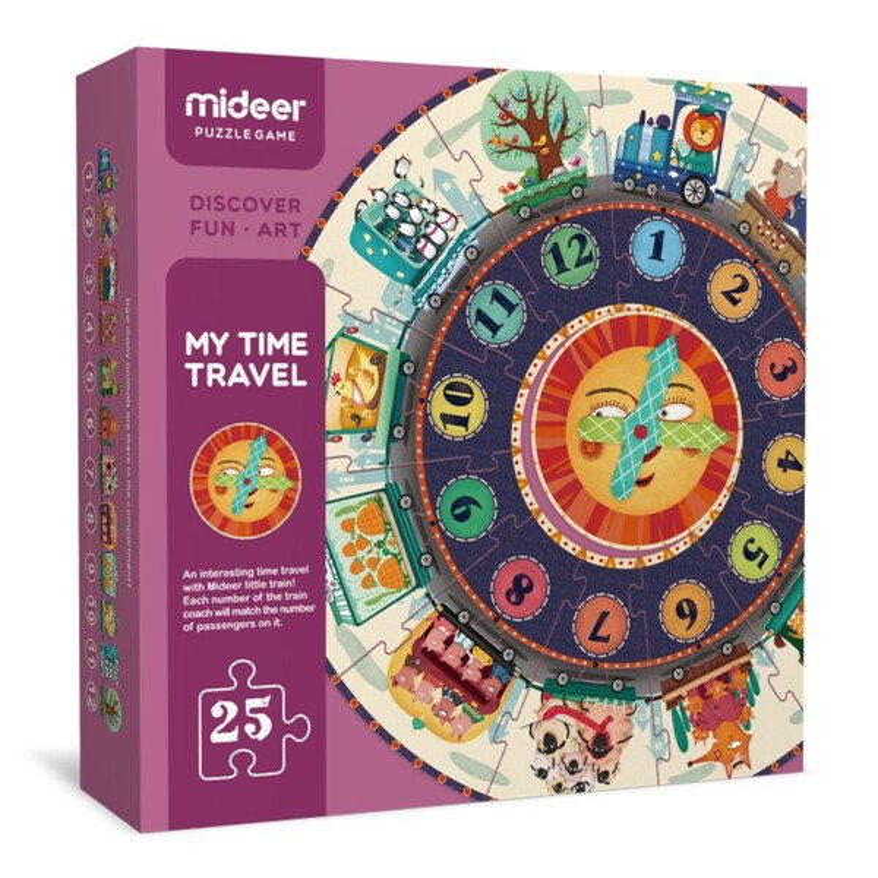 Mideer - Puzzle auto-correcteur Horloge